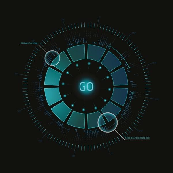 Futuristic HUD Background - 15x EPS (30 файлов)
