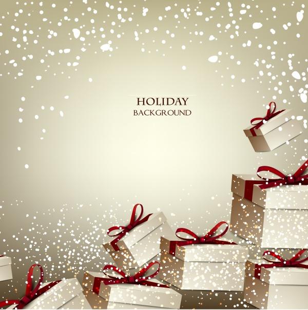 Новогодние бэкграунды с яркими украшениями eps files (14 файлов)