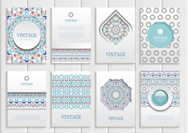 Pastel Vintage Backgrounds Vector 2 (12 файлов)