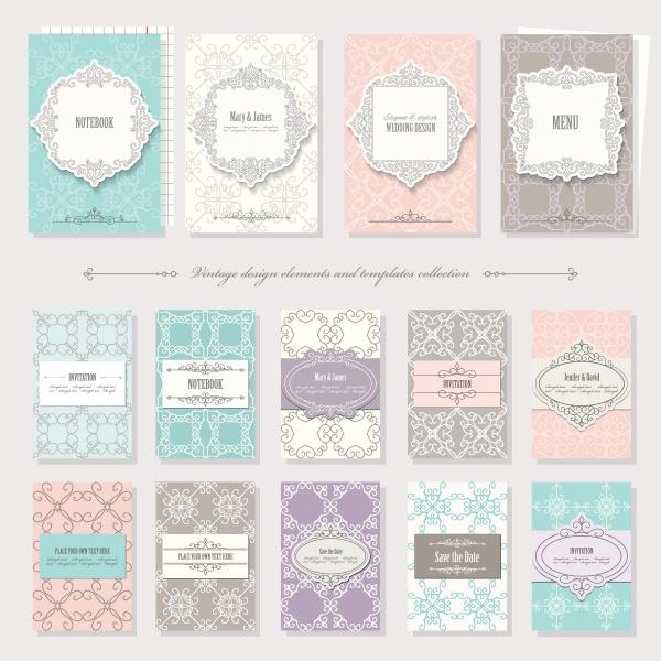 Wedding Invitation Cards Vector 4 (6 файлов)
