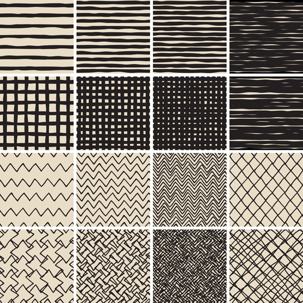 Hand drawn seamless textures. Gorgeous seamless wave. Arrows doodles pattern #1 (29 файлов)