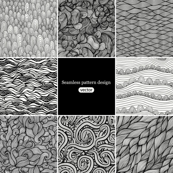 Hand drawn seamless textures. Gorgeous seamless wave. Arrows doodles pattern #2 (22 файлов)
