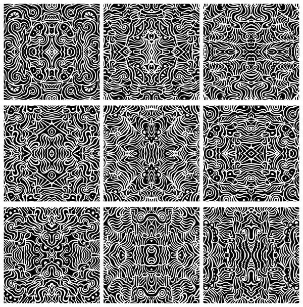 Hand drawn seamless textures. Gorgeous seamless wave. Arrows doodles pattern #2 (22 файлов)