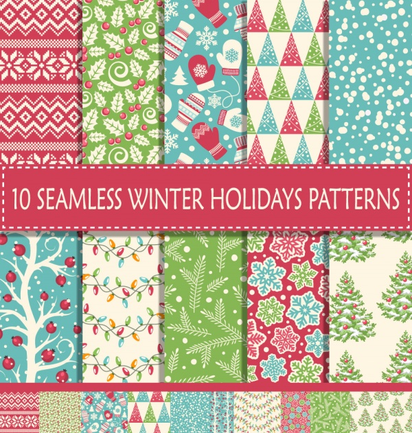Seamless patterns for wallpapers design - 137x EPS #1 (21 файлов)