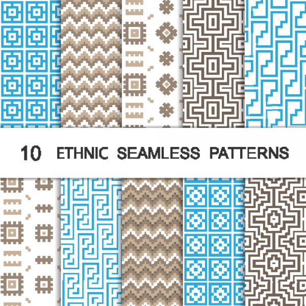 Seamless patterns for wallpapers design - 137x EPS #1 (21 файлов)