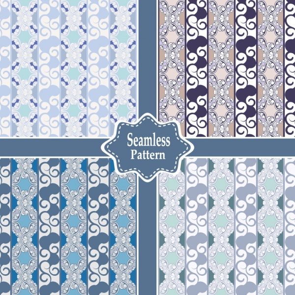 Seamless patterns for wallpapers design - 137x EPS #10 (30 файлов)