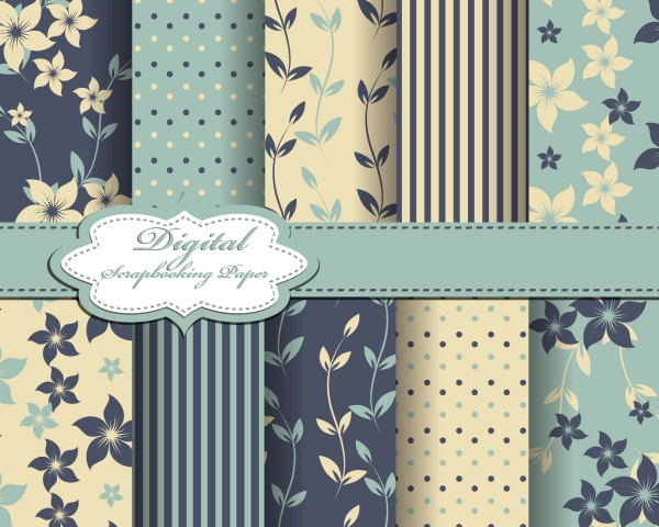 Seamless patterns for wallpapers design - 137x EPS #2 (38 файлов)