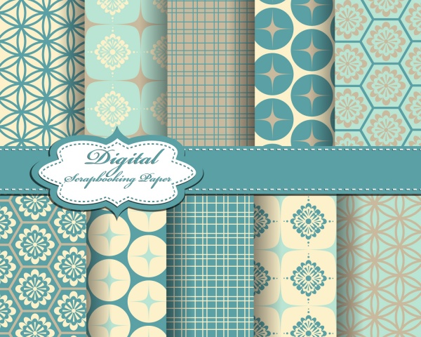 Seamless patterns for wallpapers design - 137x EPS #3 (28 файлов)