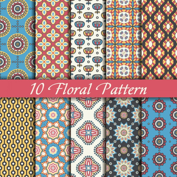 Seamless patterns for wallpapers design - 137x EPS #5 (28 файлов)