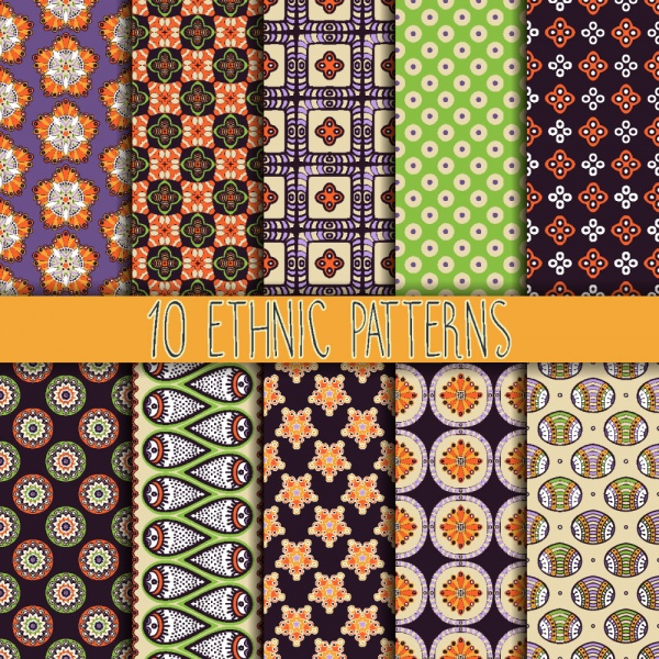 Seamless patterns for wallpapers design - 137x EPS #5 (28 файлов)