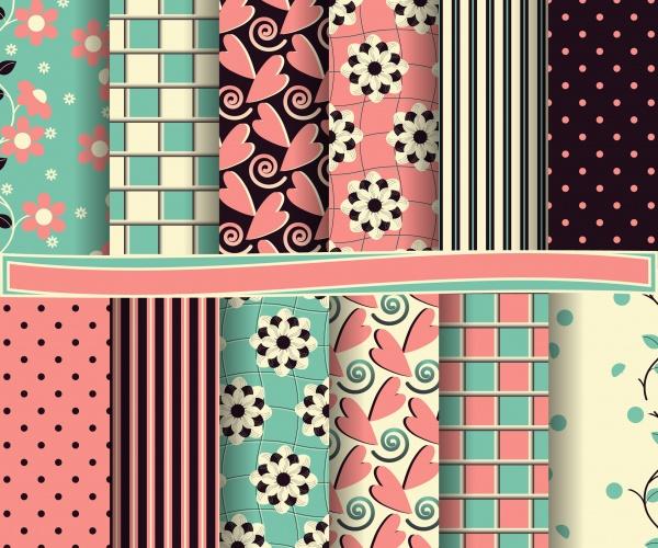 Seamless patterns for wallpapers design - 137x EPS #7 (22 файлов)