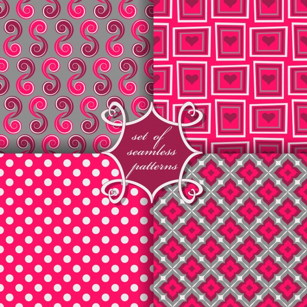 Seamless patterns for wallpapers design - 137x EPS #8 (24 файлов)