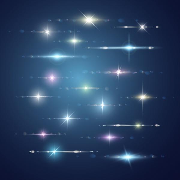 Световой эффект с блестками и бликами | Light effect with sparkles and lens flares  #1 (29 файлов)