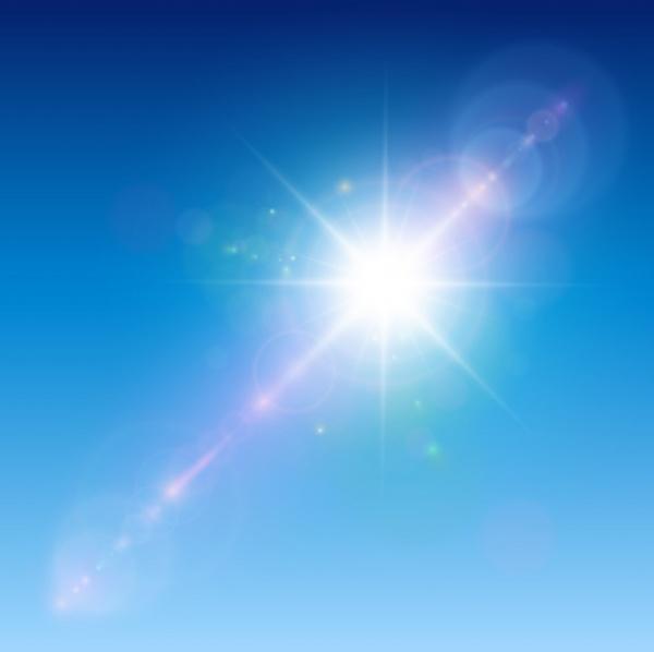 Световой эффект с блестками и бликами | Light effect with sparkles and lens flares  #2 (22 файлов)