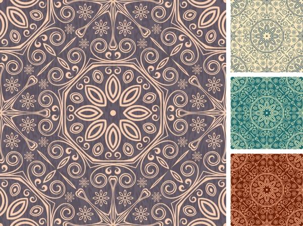 Set of floral seamless patterns #1 (14 файлов)