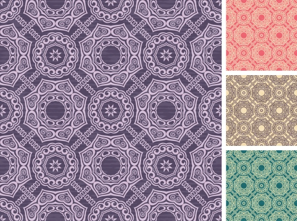 Set of floral seamless patterns #1 (14 файлов)