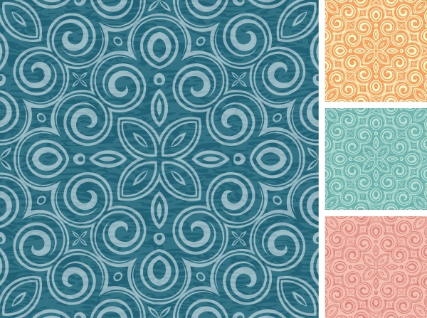 Set of floral seamless patterns #2 (12 файлов)