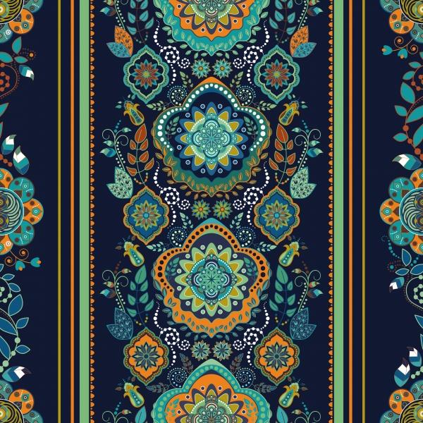 Vintage Floral Ornaments Backgrounds Vector 2 (10 файлов)