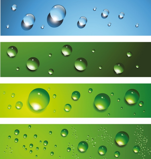 Water Dew drops vector background (50 файлов)