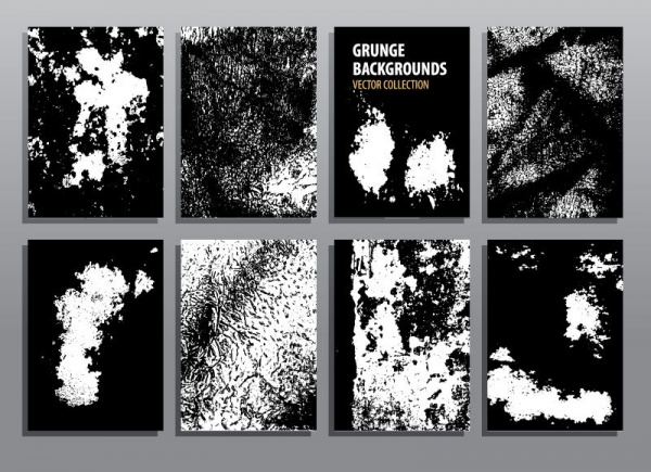 Abstract grunge backgrounds. Brochure and flyers, brush textures (51 файлов)