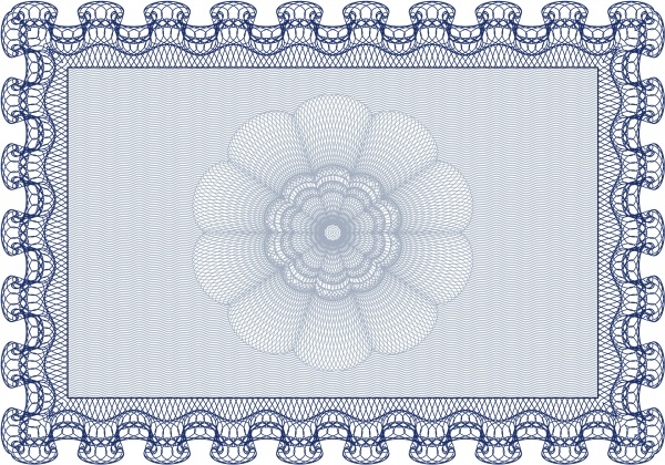 Сертификат и диплом | Certificate and diploma. With guilloche pattern and background #2 (14 файлов)