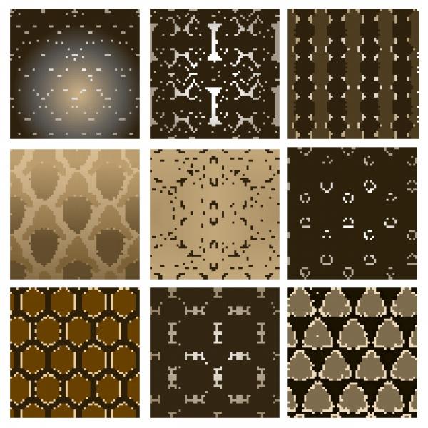 Бесшовные винтажные фоны с узорами | Seamless pattern vintage vector background #2 (12 файлов)