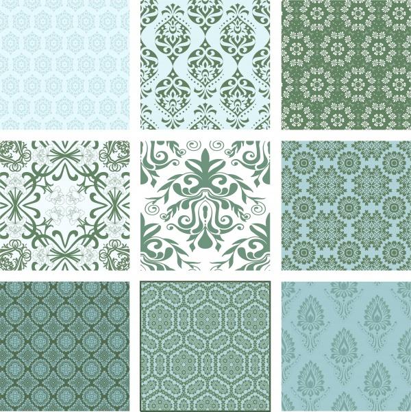 Бесшовные винтажные фоны с узорами | Seamless pattern vintage vector background #4 (12 файлов)