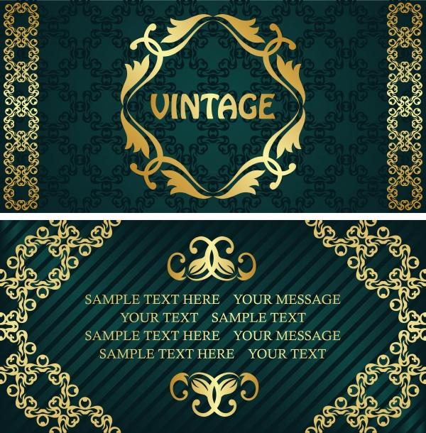 Роскошные старинные фоны с золотыми узорами и разделителями (49 файлов)