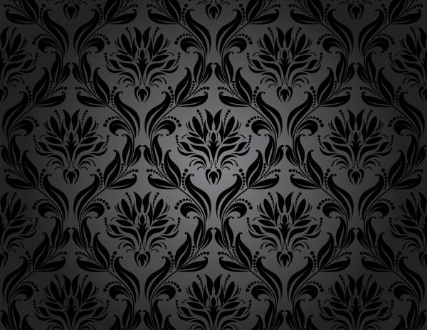 Винтажные узоры, черные фоны - вектор (74 файлов)