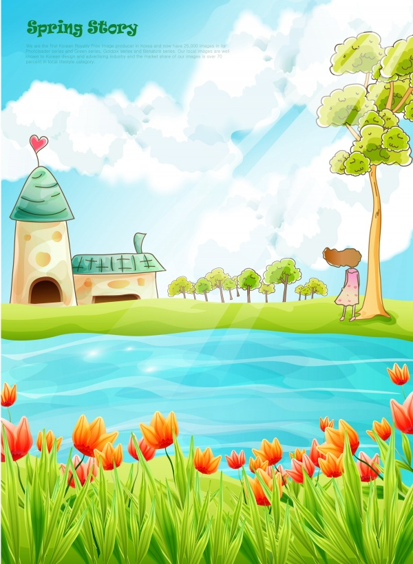 Children vector cartoon backgrounds (60 файлов)