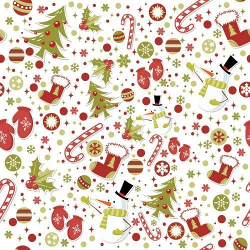 Новогодние бесшовные фоны в векторе (51 файлов)