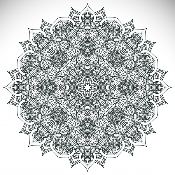 Colorful, Black-White Mandala Patterns #1 (13 файлов)