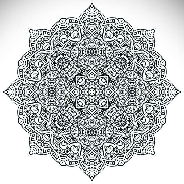 Colorful, Black-White Mandala Patterns #1 (13 файлов)