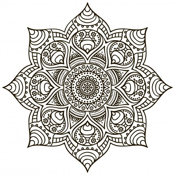 Colorful, Black-White Mandala Patterns #3 (14 файлов)