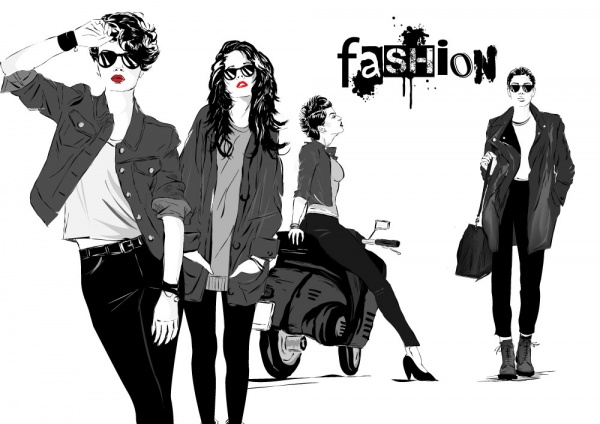 Fashion week and fashionable girl (41 файлов)