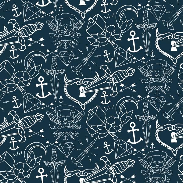 Tattoo seamless pattern (20 файлов)