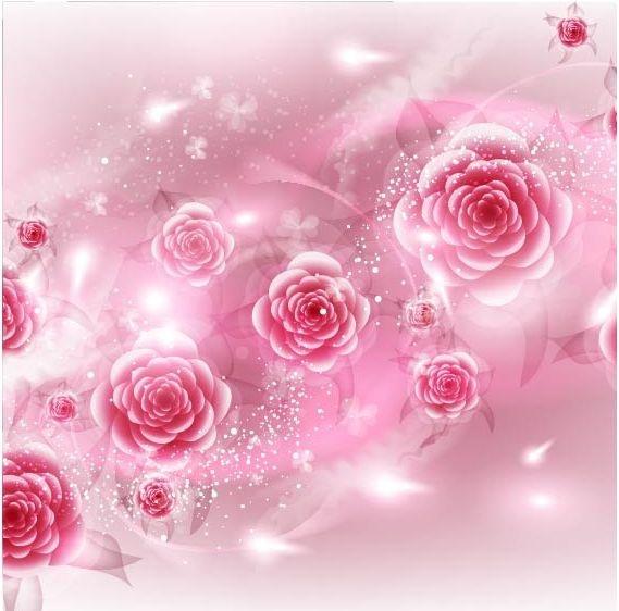 Vector Flowers Backgrounds #10 Фоны цветочные #10 (50 файлов)