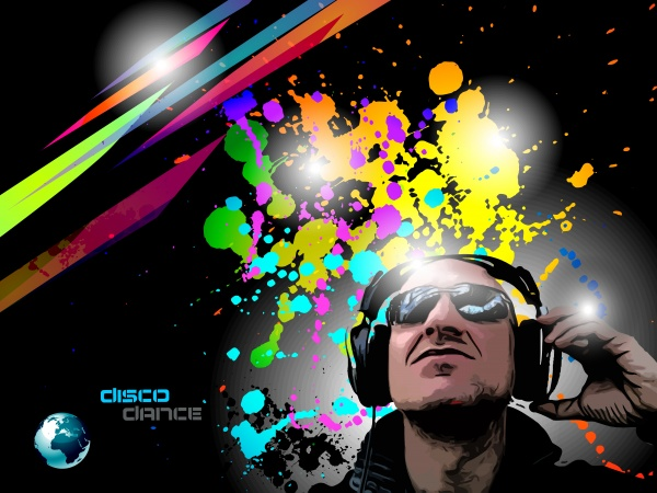 Club Disco - DJs and Colorful backgrounds (10 файлов)