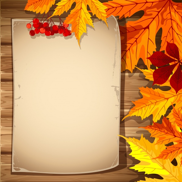 Autumn leaves vector backgrounds #1 (28 файлов)