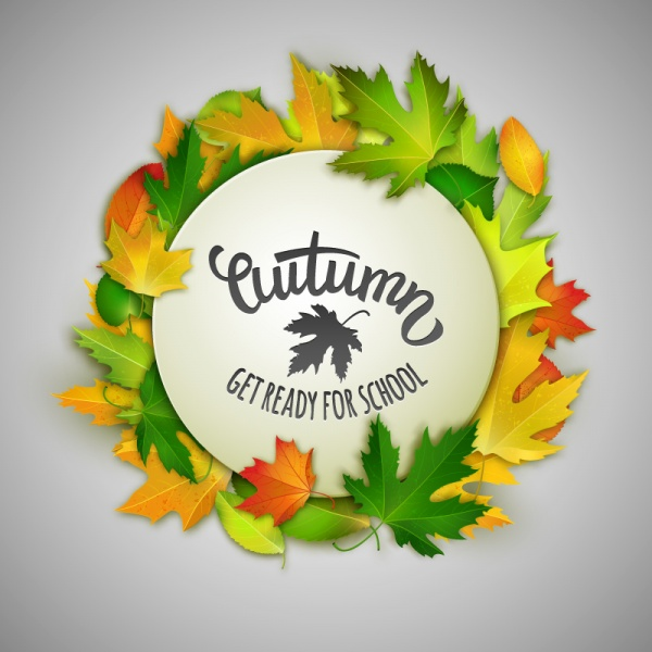 Autumn leaves vector backgrounds #2 (22 файлов)