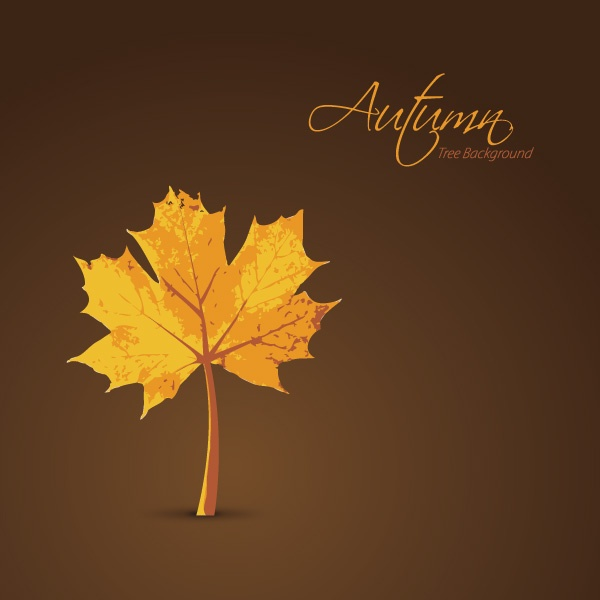 Autumn leaves vector backgrounds #2 (22 файлов)