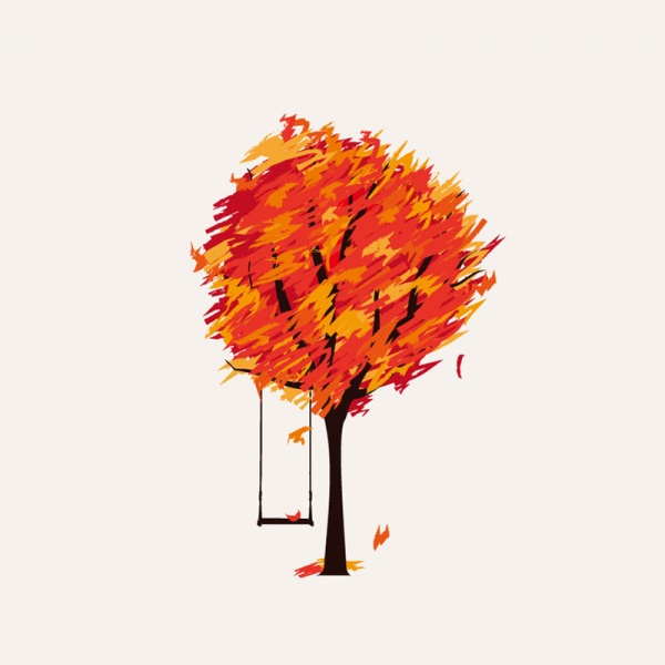 Autumn vector backgrounds with trees and leaves (42 файлов)