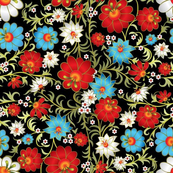Цветочные узоры   Floral Patterns #1 (15 файлов)