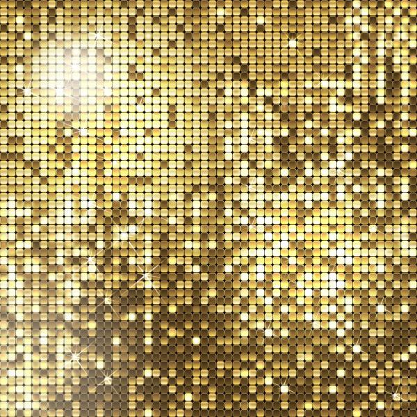 Фоны в Векторе с блестками – Золото и серебро (10 файлов)