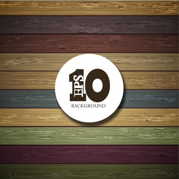 Цветные деревяннве фоны в Векторе – Современный стиль #2 (10 файлов)