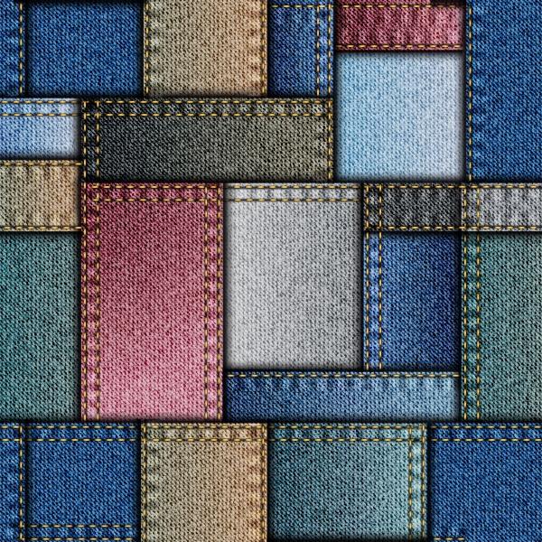 Красивый узор в стиле Пэчворк из джинсовой ткани #2 (10 файлов)