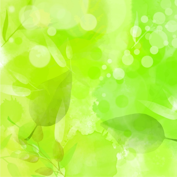Illustration with green watercolor for spring themes (44 файлов)