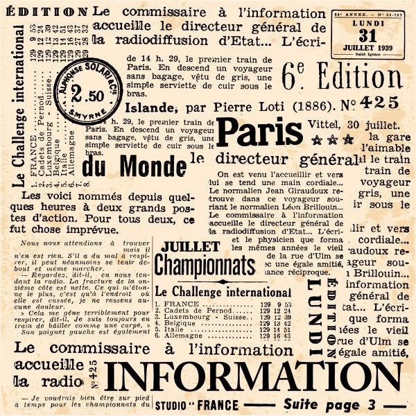 Retro newspapers 3 Vectors #1 (11 файлов)