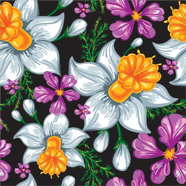 Vector Flowers Textures #3 (50 файлов)