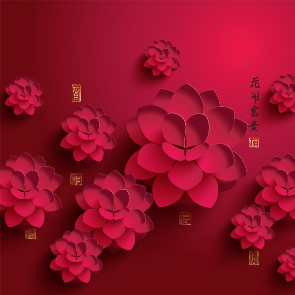 Backgrounds with paper flowers - Фоны с бумажными цветами (32 файлов)